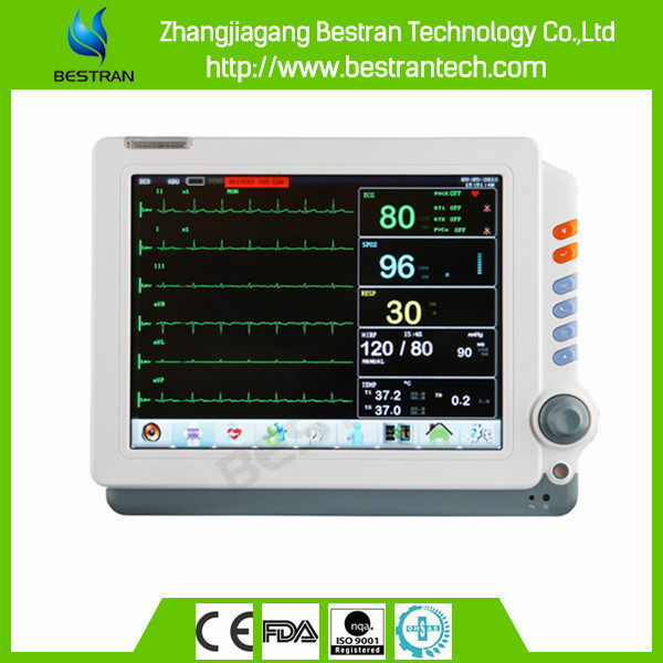 BT-PM9C Multi-channel display Touch Screen 12'' patient monitor with cart