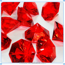 Brightly Red Large Acrylic Gems For Wedding Decoration