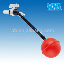 Small side float valve for WC flush PVC tank