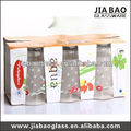 3pcs/set printed beautiful drinking glass set,colored drinking glass sets,glass cup set