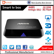TOP selling! 4k ultra output android tv box xnxx movies cartoon m8s support 3d media better than MXIII!