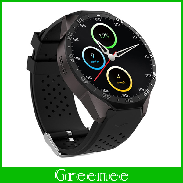 KW88 Android 5.1 Smart Watch Phone MTK6580 quad core 1.3GHZ ROM 4GB + RAM 512MB 1.39 inch 400*400 Screen with 2.0MP camera