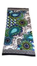 Towel factory custom big size terry fabric cotton double side print beach towel