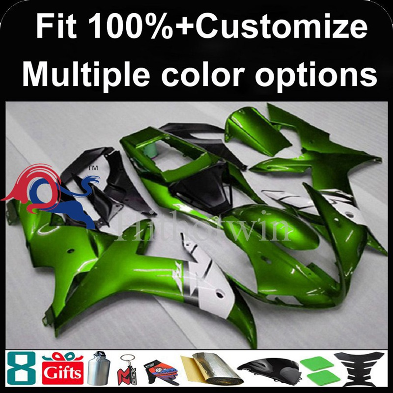 Injection mold green motorcycle cowl for Yamaha YZF-<strong>R1</strong> 2002-2003 <strong>02</strong> <strong>03</strong> YZFR1 2002 2003 <strong>02</strong>-<strong>03</strong> ABS Plastic Fairing