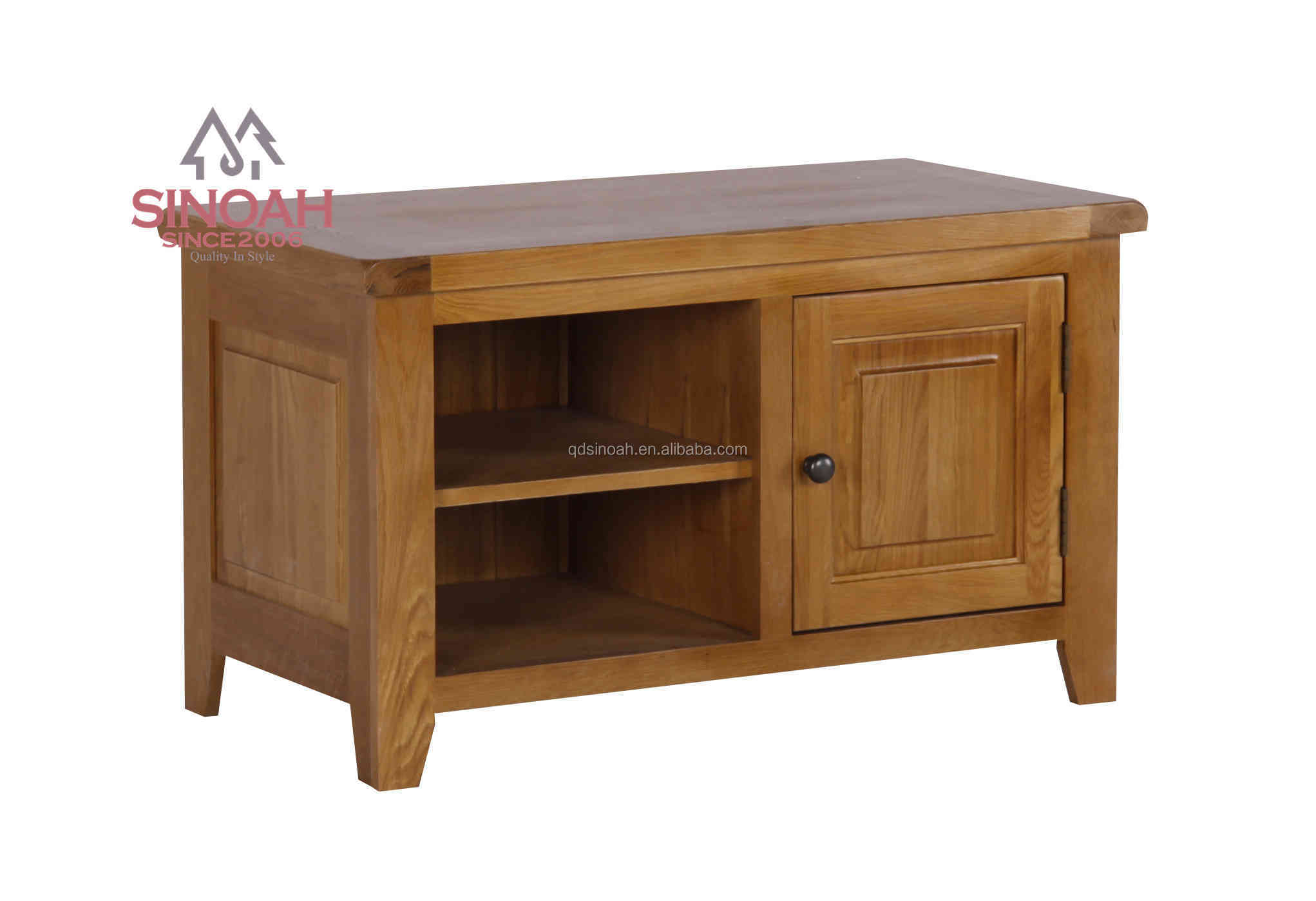 Massief eiken kleine tv meubel houten doos woonkamer for Houten meubels woonkamer