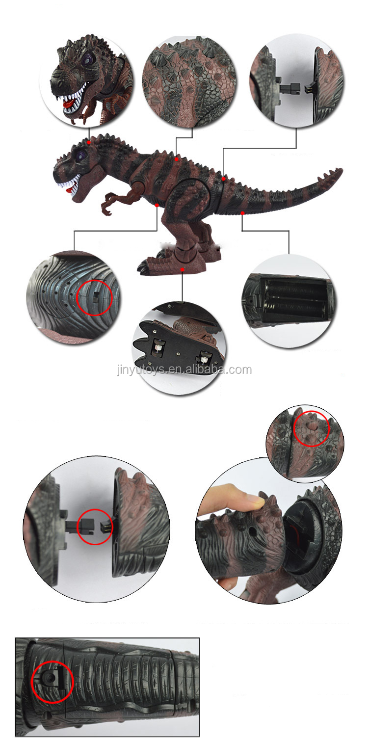 Plastic tyrannosaurus toy Electronic Walking Dinosaur Toy with light and sound for boys