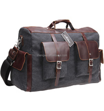 Iblue Grey Canvas One Day Sports Travel Luggage Duffel Bag D014