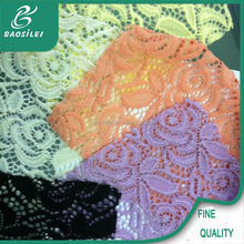 Compression knitting lace garment 92 nylon 8 spandex fabric