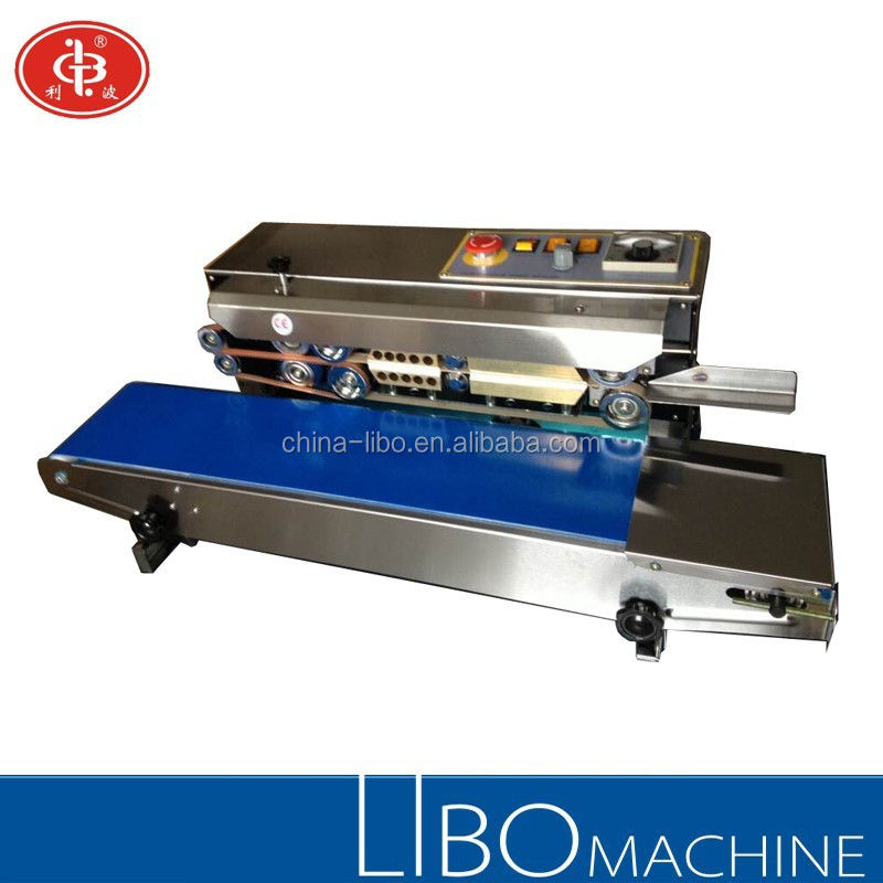 DBF-900 Stainless Steel Model Continuous Band Sealer for plastic bags (horizontal , vertical, and desktop type for choice)