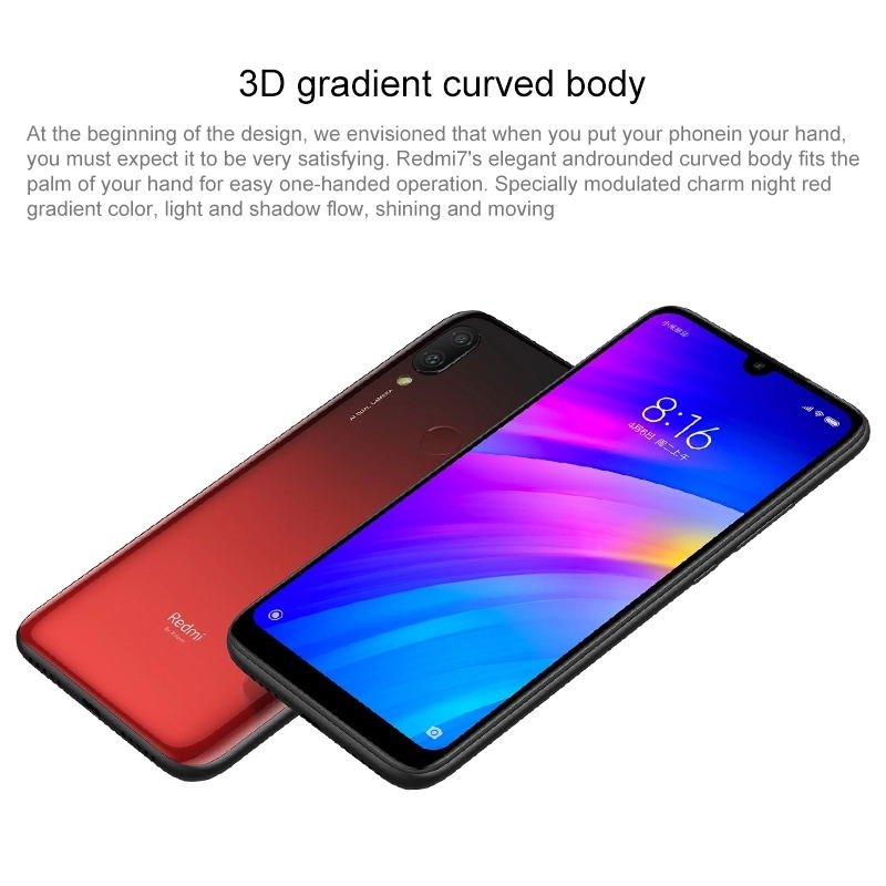 Global Version Xiaomi Redmi 7 Redmi 7 3GB 64GB Mobile Phone Octa Core Snapdragon 632 Phone with 6.26 inch Full screen 4000mAh