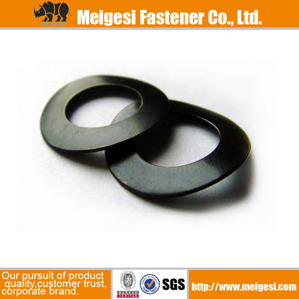 Supply fastener with good quality and price spring steel black lock taper washer