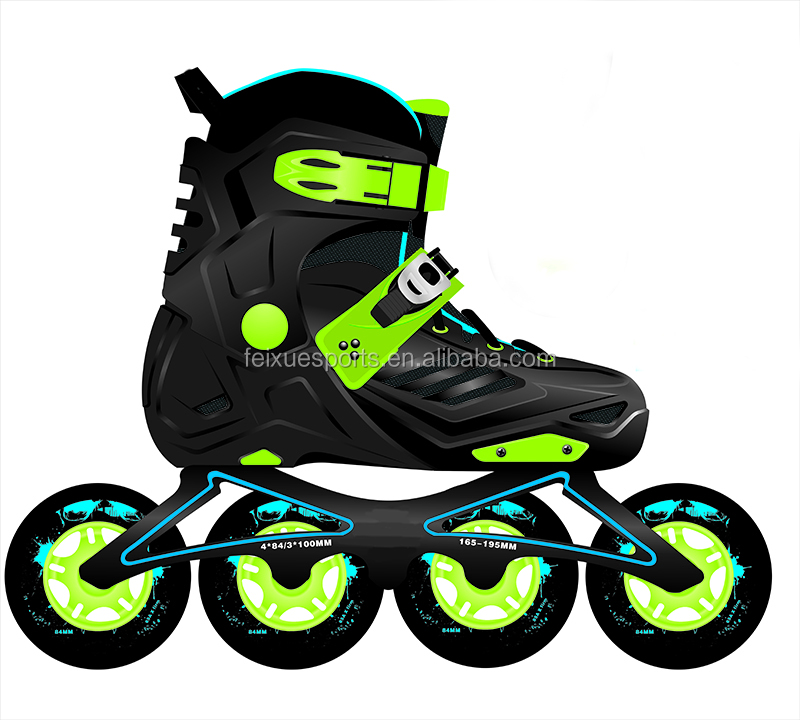 new adjustable professional inline speed skates dual purpose frame 4 wheels shoes for kids adults