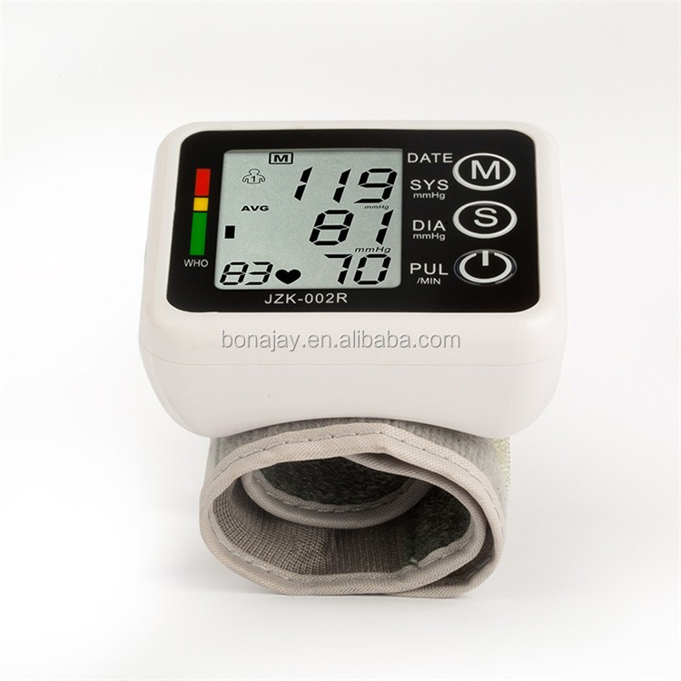 New Health Care Germany Chip Automatic Wrist Digital Blood Pressure Monitor Tonometer Meter for Measuring And Pulse Rate