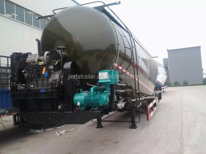 bohai commpresser and weicai enginee 3 axles cement trailer for sale