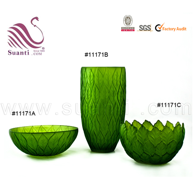 Polyresin Home Decoration Leaves Fruit Bowl and Vase