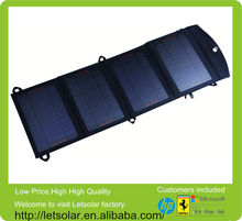 Letsolar foldable solar charger without battery inside 14W power bank 30000 mah