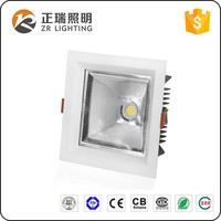 Hotel Project 12W 20W 35W Recessed Square COB LED Downlight Bridgelux chip