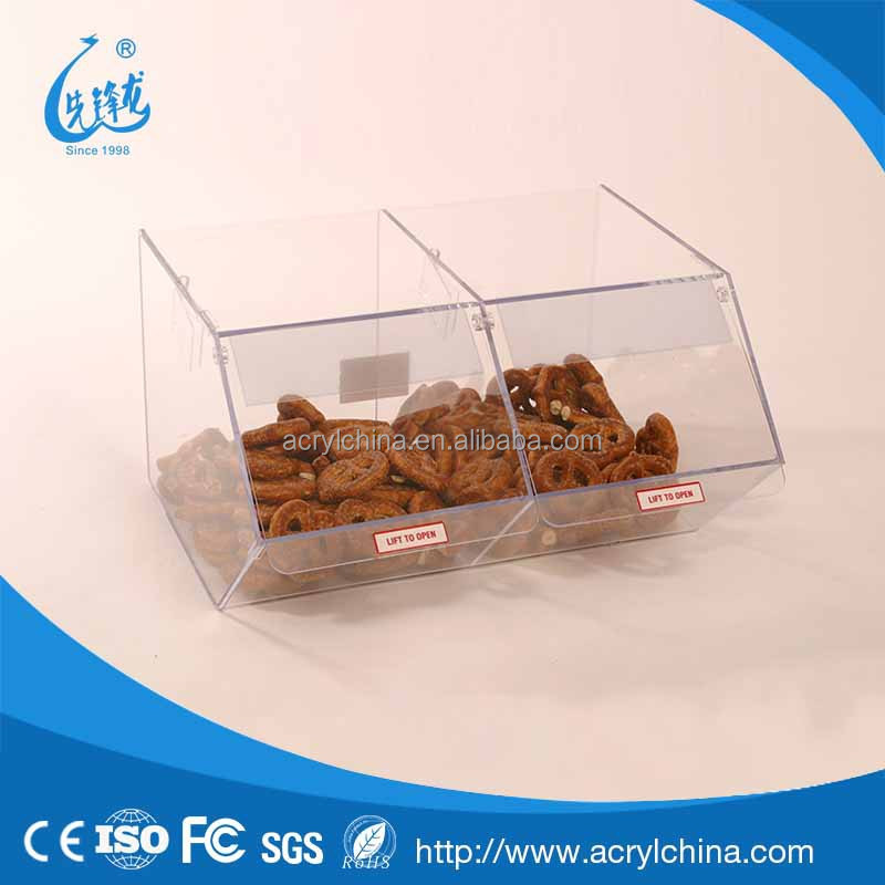 clear plexiglass Bulk Food Dispenser For Unwrapped Products