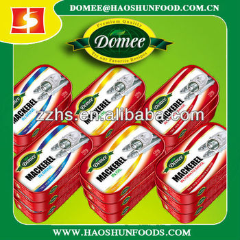Mackerel canned fish
