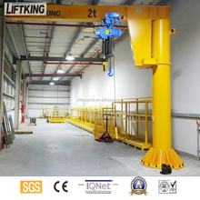 LIFTKING Manufacturer Price BEST SELLERS high quality rotating used mini jib Crane for sale with electric wie rope hoist lifting