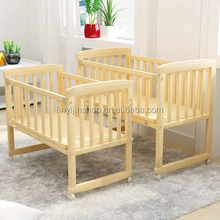 2017 new pine wood baby swing bed baby park bed
