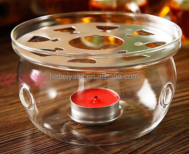 Very beautiful modern glass candle holder with crystal base