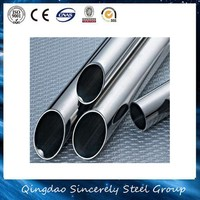 AISI 201304 316l 316 Polished Hairline Brushed Bright Annealing Stainless Steel Pipe / Tube fittings for handrail