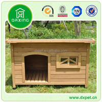 DXDH001 Medium Solid Wood Lodge Kennel