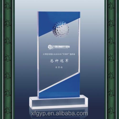 new design crystal trophy plaque golf awards