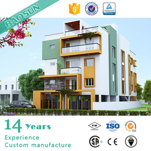 5 floors Light structural steel Modular building for apartment office dormitary real estate