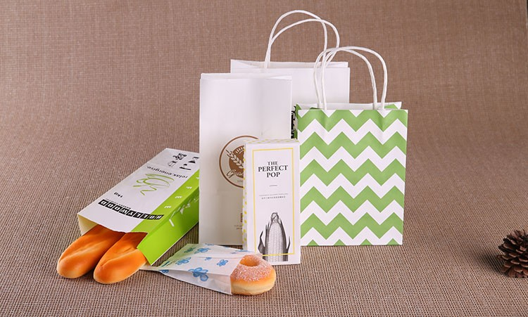 custom logo printed paper food bag