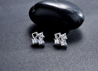 Zircon of gold earring stud earrings AAA allergy free color preserving earrings manufacturers selling high-end fashion