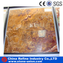 Decorative professional luxury natural red onyx stone slab