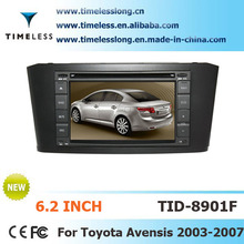 Car DVD for Toyota Avensis 2003-2007 with built-in GPS A8 chipset RDS BT 3G/Wifi DSP Radio 20 dics momery(TID-C001F)