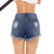 Ladies Sexy Blue Denim Frayed Destroyed Brief Jeans Shorts