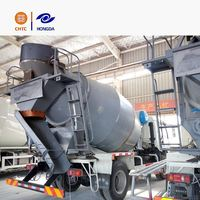 4x2 Heavy duty rotation self loading concrete mixer truck low angle 13.5 of tank