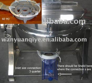 gas operated jacketed kettle stainless steel jacketed kettle with agitator gas heating cooking kettle