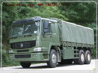 hot sale 2016 model howo 25t 6x6 military soldier transport cargo truck for sale