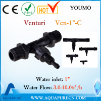 "1"" Venturi tube for ozone water treatment with 3.0-10.0m/h water flow"