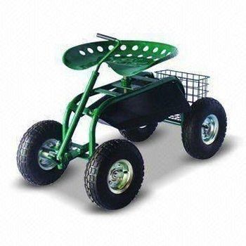 Rolling Garden Tractor Scoot Work Seat On Wheels With