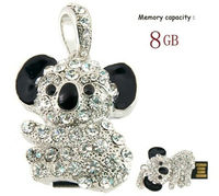 8G Crystal Koala USB Flash Drive ,Crystal Koala Memory Stick ,8G Jewerly U-Disk