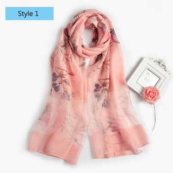Best selling graceful pattern women neckerware transparent silk viscose blended fabric skin friendly pashmina scarves