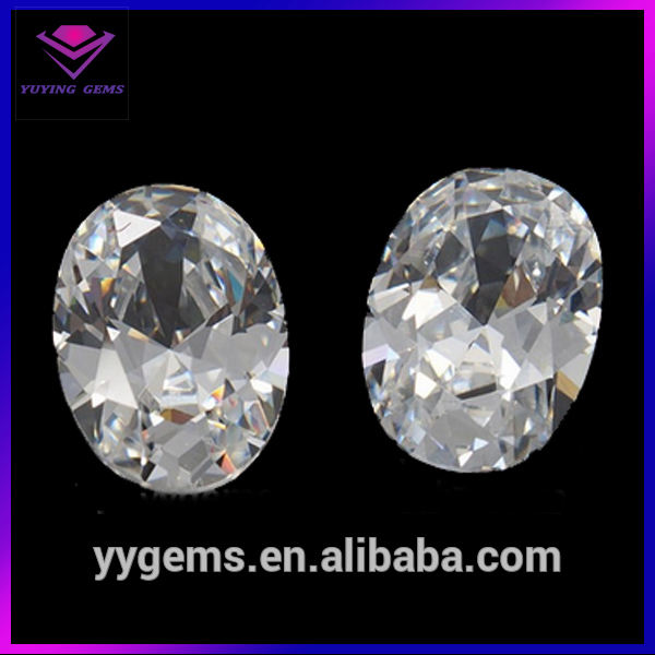 White Clear Oval Cubic Zircon Stone Wax Jewelry Casting 2017 Fashion Jewelry