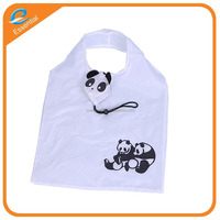 Promotional cheap foldable nylon panda shape shopping bag