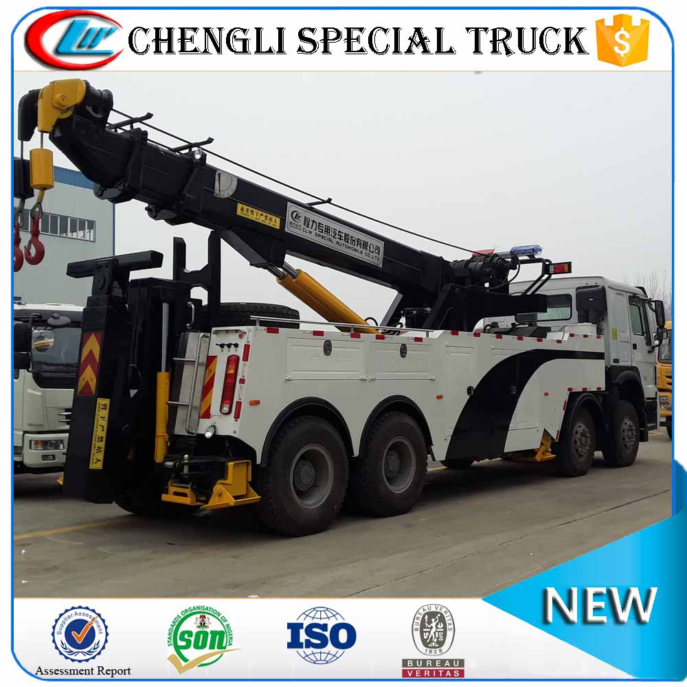 SINOTRUK HOWO 8x4 Heavy Duty Emergence Traffic Tow Vehicle Road Wrecker Truck For Sale Manufacturer