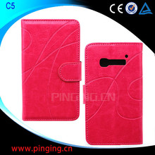 for Alcatel One Touch Pop C5 case, wallet leather flip cover case for Alcatel One Touch Pop C5