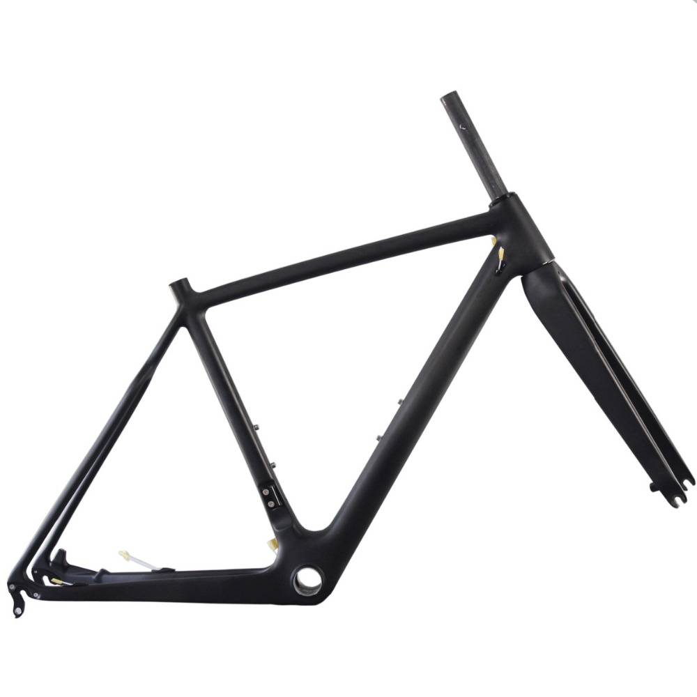 ICAN bulk bicycle parts carbon bmx bike frames disc brake cyclocross frame thru axle di2 compatiable frameset AC109