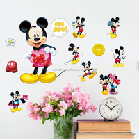 Mickey mouse Cartoon Stickers Refrigerator Cup Notebook Decal kids cartoon character wall stickers decoration baby nursery room