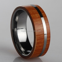 Magic Wholesale Koa Wood Inlay Tungsten Wedding Band