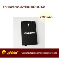 Rechargeable Li-ion mobile battery For Karbonn 325B09100000134 3.7V 2200mA cell phone battery